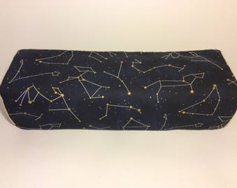 Cricut Maker/ Explore/ Air/ Air 2/ One Custom Handmade Dust Cover Blue and Gold Stars/constellation with Gold Piping