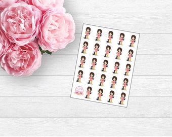 Gracie with Cats Planner Sticker (L26)