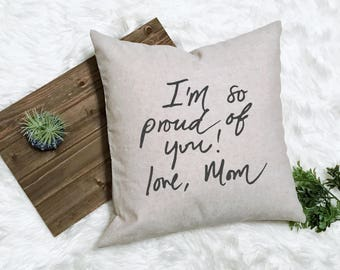 Custom Handwriting Pillow Bereavement Gift - Actual Handwriting - Gift Loss Handwritten - Condolence Gift Handwriting - Pillow Keepsake