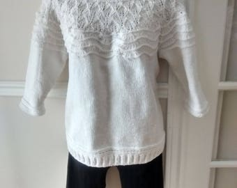 White patterned sweater