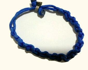 Unique Blue Paracord Bracelet For Men or Women, Rugged Paracord Bracelet,Jewellery, Paracord, Handmade,