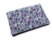 flowery fabric car papers case, car documents pocket