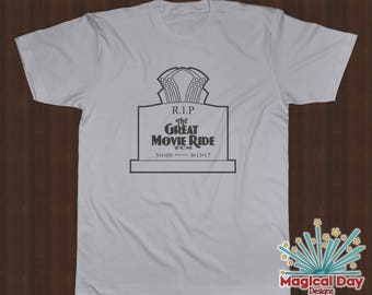 Disney Shirts -The Great Movie Ride - R.I.P. (Black Design)