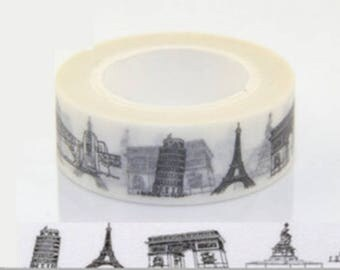 Masking tape washi tape white monument in Paris