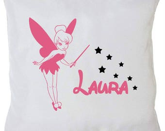 Personalized pillow fairy Bell + name