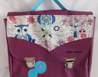 Girl OWL motif satchel