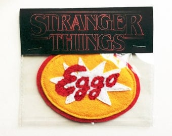 Stranger Things Eggo Waffle Felt Embroidered Sew-On Patch