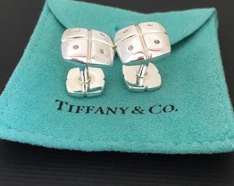Tiffany & Co Sterling Silver Men's Cufflinks Cuff Links
