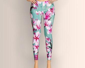 Watercolor Blossoms, Leggings