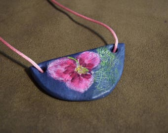 Hand Painted Botanical Necklace