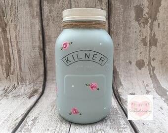 Painted Kilner Vase 1 litre size