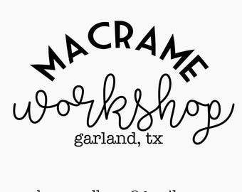 Macrame Workshop, August 6, 2017 3pm Class