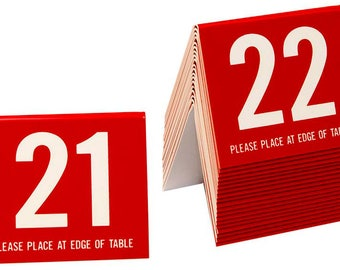 Plastic Table Numbers 21-40 Tent Style Numbers Red w/White Number  sc 1 st  Etsy & Restaurant numbers | Etsy