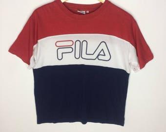 Rare Design Vintage Fila Big Logo T-shirt