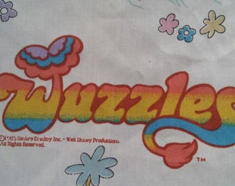 Vintage fabric The Wuzzles Disney 1985 Bill Scott