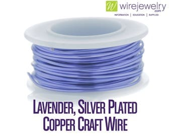 Lavender, Silver Plated Copper Craft Wire, Round, Various Gauges and Lengths