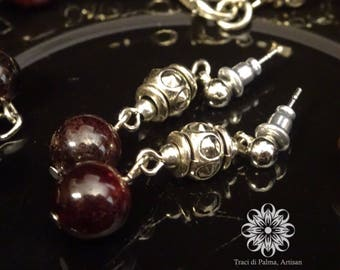 "Birthstone Jewelry: January - Necklace and Earrings - ""Garnet Sorcery"""