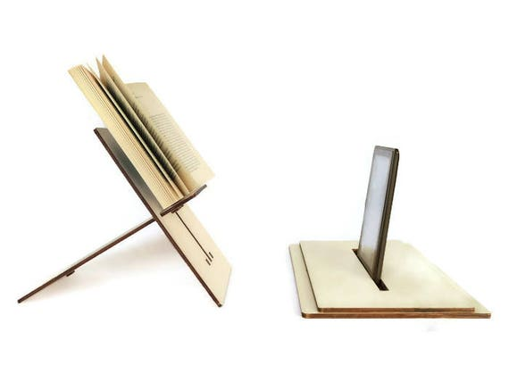 laser cut holz ebook stand holz buchst tze tablet st nder. Black Bedroom Furniture Sets. Home Design Ideas