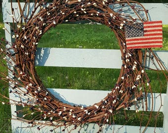 Fourth of July Wreath, Memorial Day Wreath, 4th of July Wreath, Front Door Wreath, All Season Wreath, Military Wreath, Front Door Decor