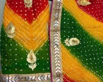 Free Shipping,Indian#Rajasthani Gottapatti Salwar suit.
