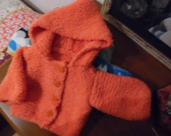 Small warm hooded coat
