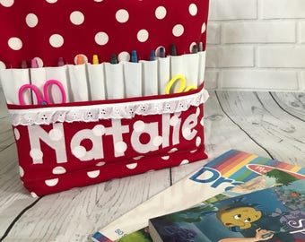 Personalized coloring tote / travel tote for kids / personalized childrens gift