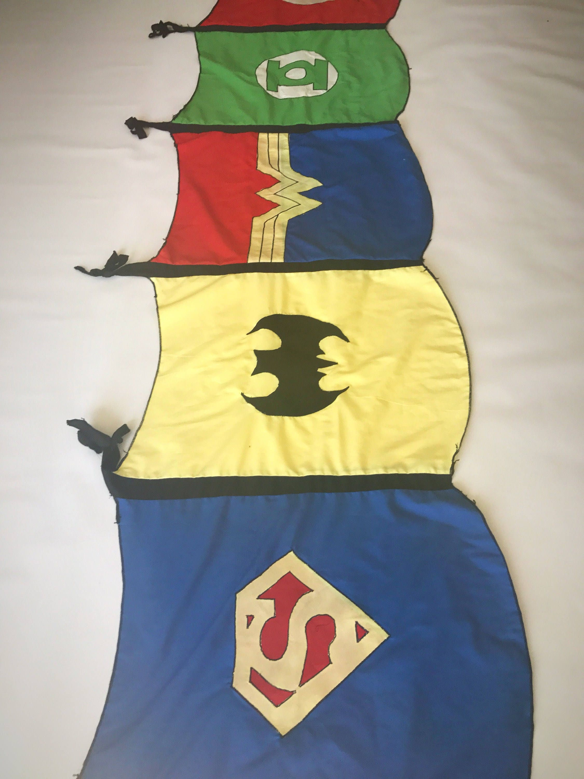 Superhero cape inspired window valance / Superhero room decor ...