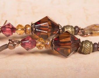 Colours of autumn leafy earrings