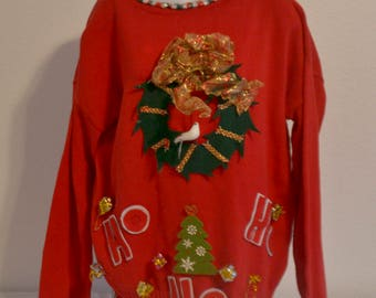 Vintage Ugly Christmas Sweater Size L