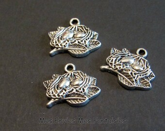 3 charms nest silver 19 x 16mm