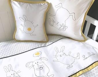 3 yellow bunnies