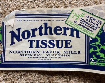 1950s Northern Tissue Toilet Paper Cover