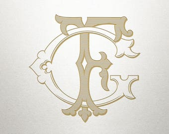 Wedding Monogram Design - GF FG - Wedding Monogram - Digital