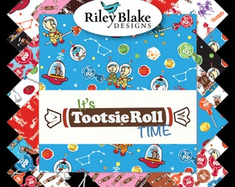 It's Tootsie Roll Time Bundle by Riley Blake, Choose Your Bundle Size, Complete Collection, 18 Fabrics