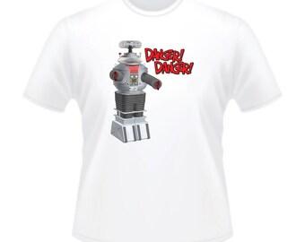 1960s American Sci-Fi TV Series Lost In Space B-9 Robot Danger! Danger! T-Shirt