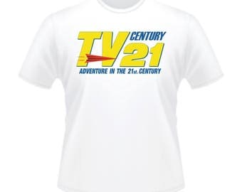 Retro 1960s TV Century 21 TV21 Fireball XL5 Stingray Thunderbirds Comic T-Shirt