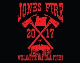 Jones Fire Wildland Fire T-shirt