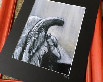 Mourning Angel, Weeping Angel, Tombstone, Cemetery Angel, Sorrowful Angel, Grief Angle Print, Angel Print, Grief and Mourning Angel