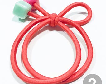 2 pcs/set/ Hair Elastic Band/ Hair Rubber Band/Pinkish orange
