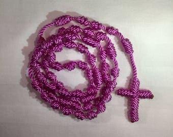 Cord Rosary - Fuchsia