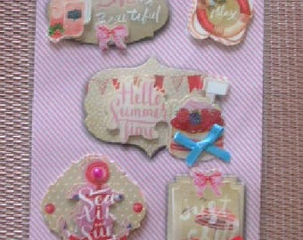 Board Stickers decals 3D Lighthouse sea buoy flower shell Pearl anchor