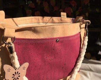 Cork Bordeaux Shoulder Bag