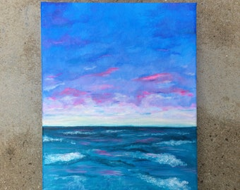 Seascape: Abstract Landscape, Seascape, Ocean view, Original Artwork, Acrylic Painting on Canvas, Landscape