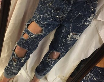 Vintage Levi's, Paint Splattered and Distressed