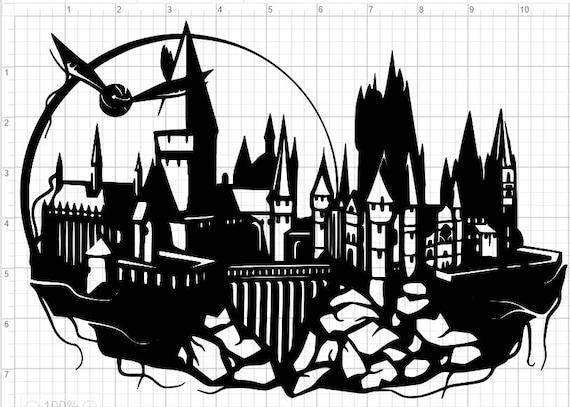 Hogwarts Design SVG EPS DXF Studio 3 Cut File