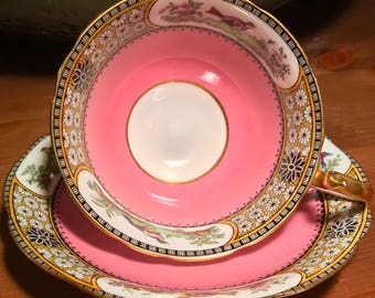 Pretty In Pink-Art Deco Aynsley Teacup and Saucer