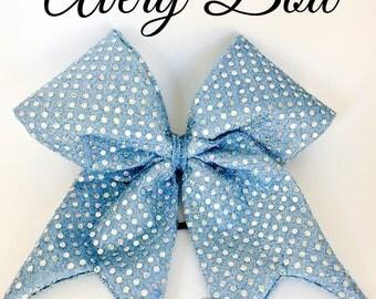 Avery Sparkle Fabric Cheer Bow