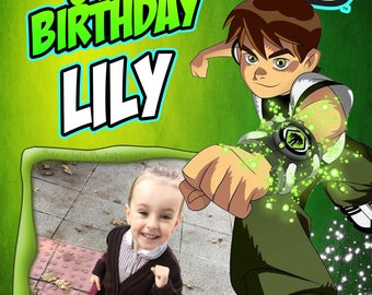 Ben 10 photo personalised Birthday Greetings card with free envelope and postage!
