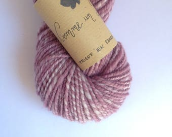As an Iris - organic Merino Wool skein spun and dyed by hand