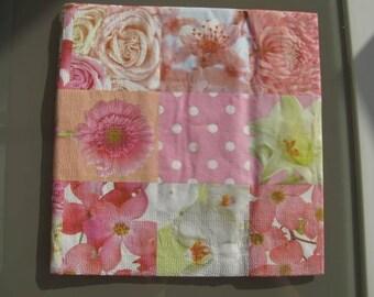 multi flower napkin